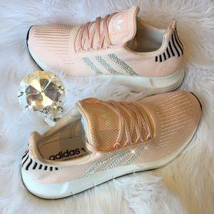 bd0b637959c7f adidas Shoes - Bling Adidas Swift Run Shoes w  Swarovski Crystals
